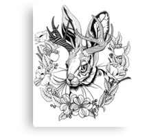 The Majestic Jackalope Canvas Print