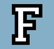 Letter F two-color by theshirtshops