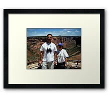 Peter and Laurie at Spider Rock, Arizona Framed Print
