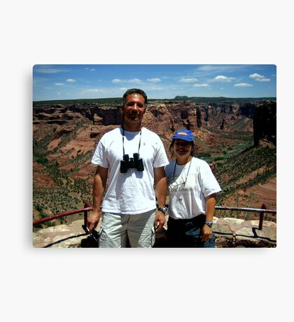 Peter and Laurie at Spider Rock, Arizona Canvas Print