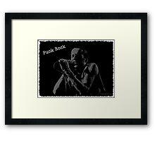 Joe Strummer / Punk Rock Framed Print