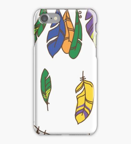 Vector Seamless Pattern of Plumage iPhone Case/Skin