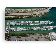 Miami: Hobie Island Harbour Canvas Print