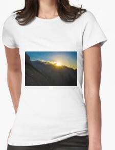 Sunset in the Mountains Womens Fitted T-Shirt