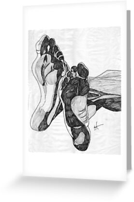 Soles - Life Drawing 008 by Jeffrey Neumann