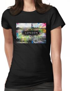 London Skyline View Collage  Womens Fitted T-Shirt