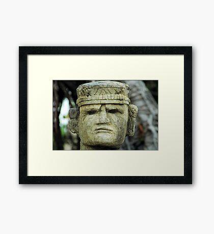 Mayan Head Framed Print