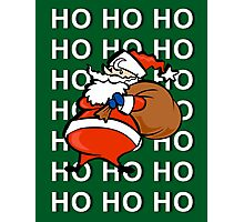Ho Ho Ho Santa Claus Christmas Card Photographic Print