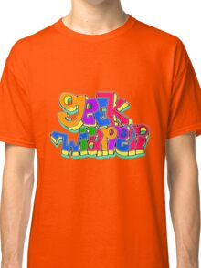 geek wrapper geeky letters Classic T-Shirt