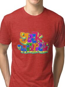 geek wrapper geeky letters Tri-blend T-Shirt