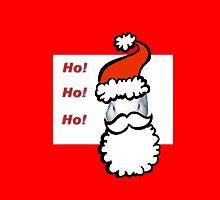 Ho Ho Ho Santa Claus Bunny Rabbit Christmas Card by Jonice