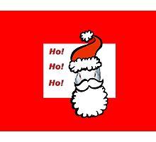 Ho Ho Ho Santa Claus Bunny Rabbit Christmas Card Photographic Print