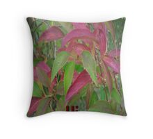 Hi Tree Limbs with Leaves Greeting Card Throw Pillow