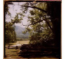 Afternoon under the smoky mountains Photographic Print