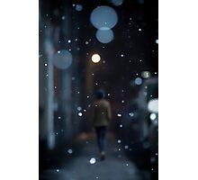 One night of snow Photographic Print