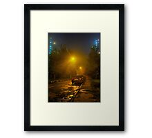 Misty - night HDR photo Framed Print