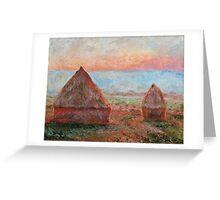 Haystacks - Tom Godfrey after Monet Greeting Card