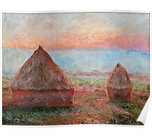 Haystacks - Tom Godfrey after Monet Poster