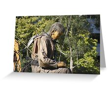 Diver - Walking With Giants Greeting Card