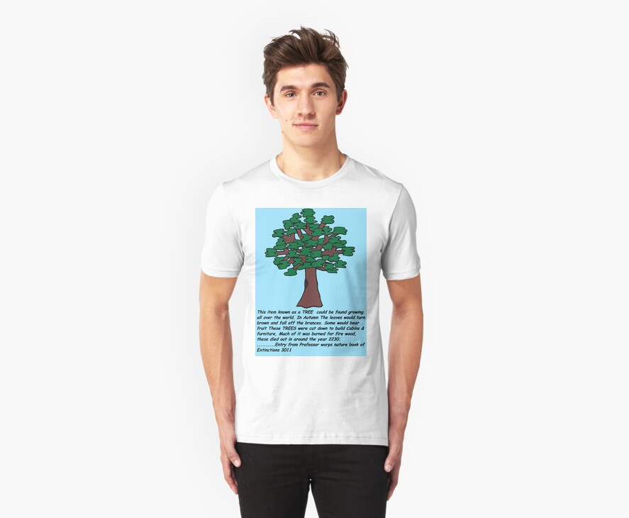 TREE: From Professor Warps Nature Book Of Extinctions 3011 - T-SHIRT by Arrow