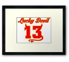 Lucky Devil 13 Framed Print