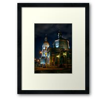 Trinity temple in Moscow - night HDR photo Framed Print