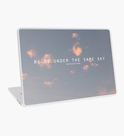under the same sky. Laptop Skin