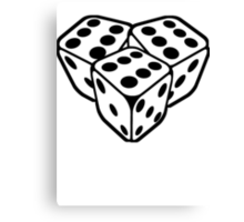 666 dice Canvas Print