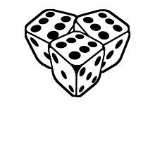 666 dice Photographic Print