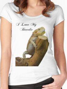 i love my beardie Women's Fitted Scoop T-Shirt