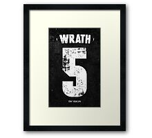 7 Deadly sins - Wrath Framed Print