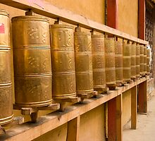 Tibetan Prayer Wheels by MiImages
