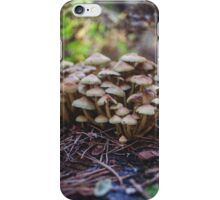 Woodland fairy mushrooms in Thetford forest, England iPhone Case/Skin