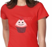 Cupcake of Sadness Womens Fitted T-Shirt