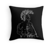 matty healy from the 1975 neon Throw Pillow