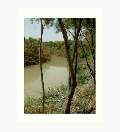 Jordan River Israel- Baptismal place of Jesus… Art Print