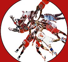 """I've Failed Over and Over Again In My Life"" Michael Jordan Earth Basketball Slam Vortex by O O"
