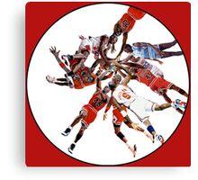 """""""I've Failed Over and Over Again In My Life"""" Michael Jordan Earth Basketball Slam Vortex Canvas Print"""