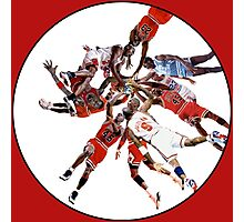 """I've Failed Over and Over Again In My Life"" Michael Jordan Earth Basketball Slam Vortex Photographic Print"