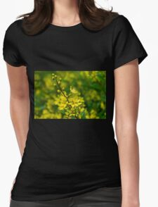 Yellow & Green Womens Fitted T-Shirt