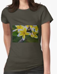 Yellow & White Womens Fitted T-Shirt