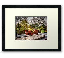 Narrowboat Pots Framed Print