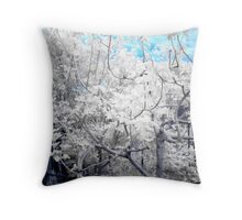Vege Patch Blue Throw Pillow
