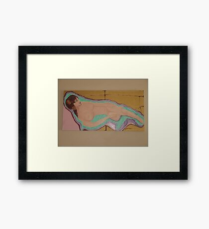 Weekend: Sun Bathing Framed Print