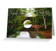 Bridge over stream Greeting Card