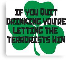 Irish Drinking Shirt Canvas Print