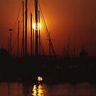 Harbour sunset by George Parapadakis (monocotylidono)