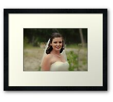 Alicia Wedding Day Framed Print