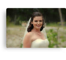 Alicia Wedding Day Canvas Print