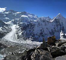 Kanchenjunga from Drohmu, 2005. by John Shortt-Smith